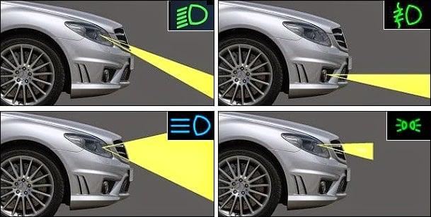 كيفية ضبط أضواء السيارة