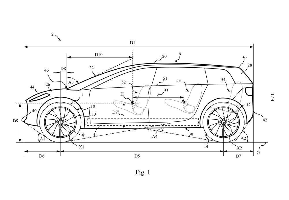 رسومات من دايسون لسيارة كهربائيّة قادمة