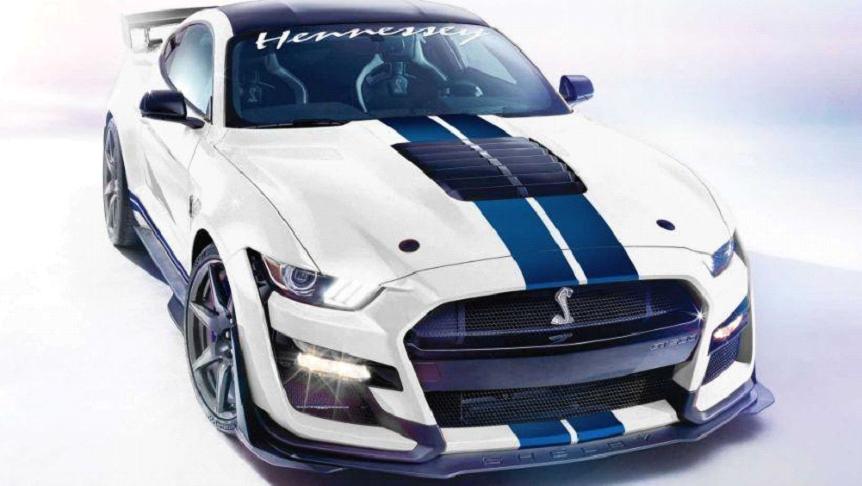 """فورد """"Mustang Shelby GT500"""" معدلة بقوة خارقة تتجاوز 1000 حصان."""