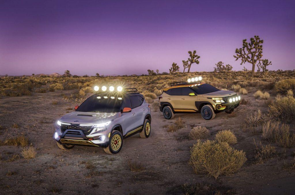 """كيا تكشف عن الموديلات النموذجية لسياراتها  """"سيلتوس X-Line"""" الجديدة في معرض لوس أنجلوس."""